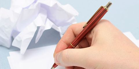 Note Writing With Crumpled Paper