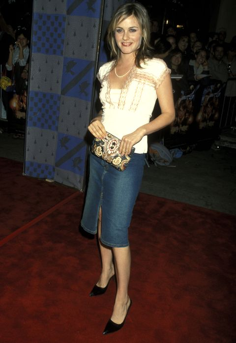 alicia silverstone during harry potter and the sorcerers stone los angeles premiere at mann village theatre in westwood, california, united states photo by ron galellaron galella collection via getty images