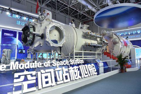 CHINA-GUANGDONG-ZHUHAI-AIRSHOW-SPACE STATION TIANHE-CORE MODULE (CN)