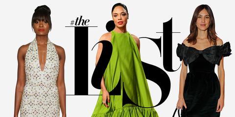 Clothing, Fashion model, Dress, Green, Fashion, Shoulder, Neck, Cocktail dress, Costume design, Fashion design,