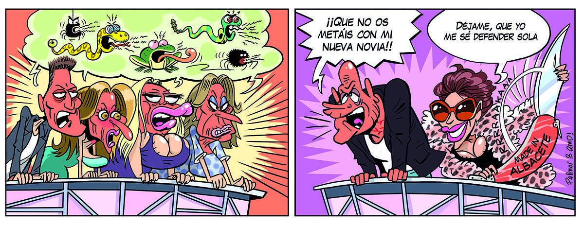 Tira cómica QMD! 1142: Así se defiende la novia de Kiko Matamoros de los ataques de 'Sálvame'