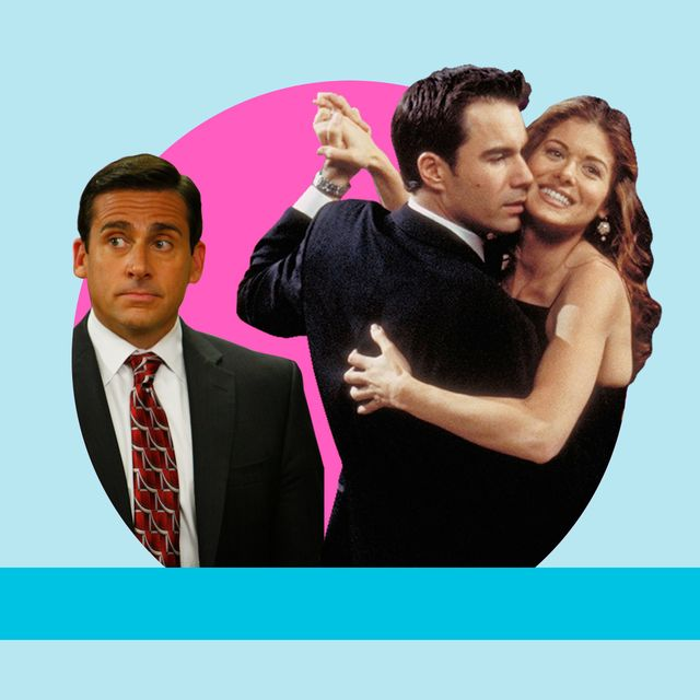 steve carrell in the office us and a still from will and grace