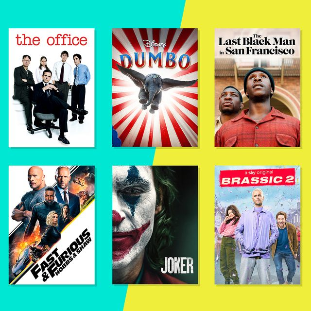 the office, fast  furious, dumbo, joker, the last black man in san francisco and brassic