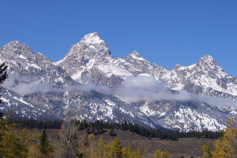 Mountainous landforms, Sky, Mountain range, Winter, Mountain, Wilderness, Snow, Summit, Slope, Arête,