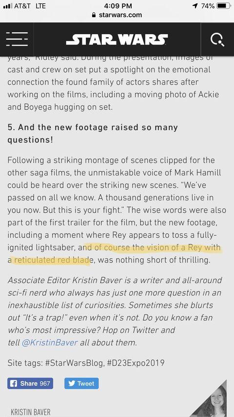 Star Wars the Rise of Skywalker Dark Rey Spoiler - Disney