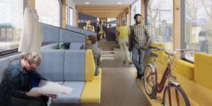 NS Vision Interior Train of the Future, Mecanoo e Gispen