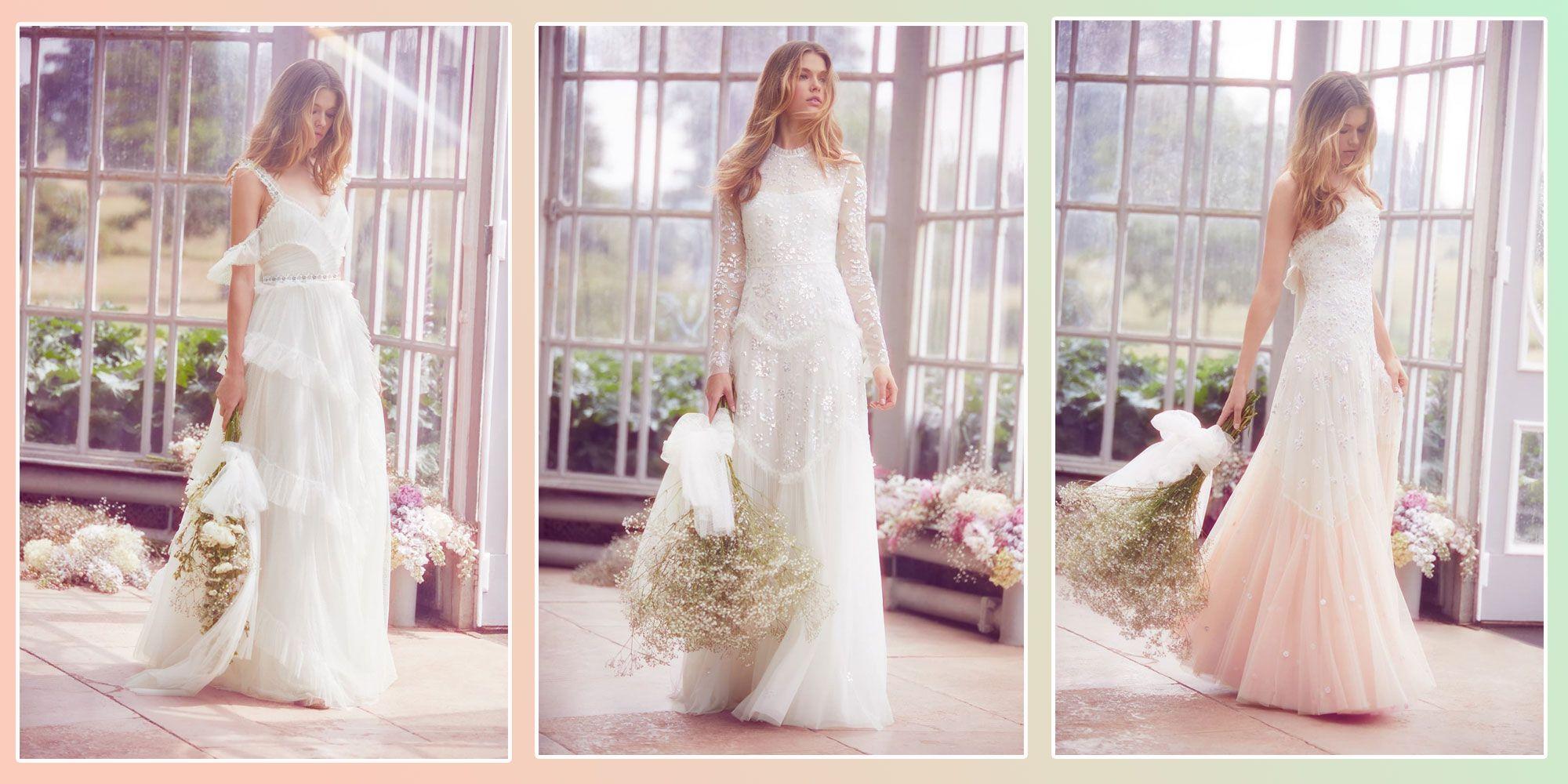 high street wedding dresses, needle & thread