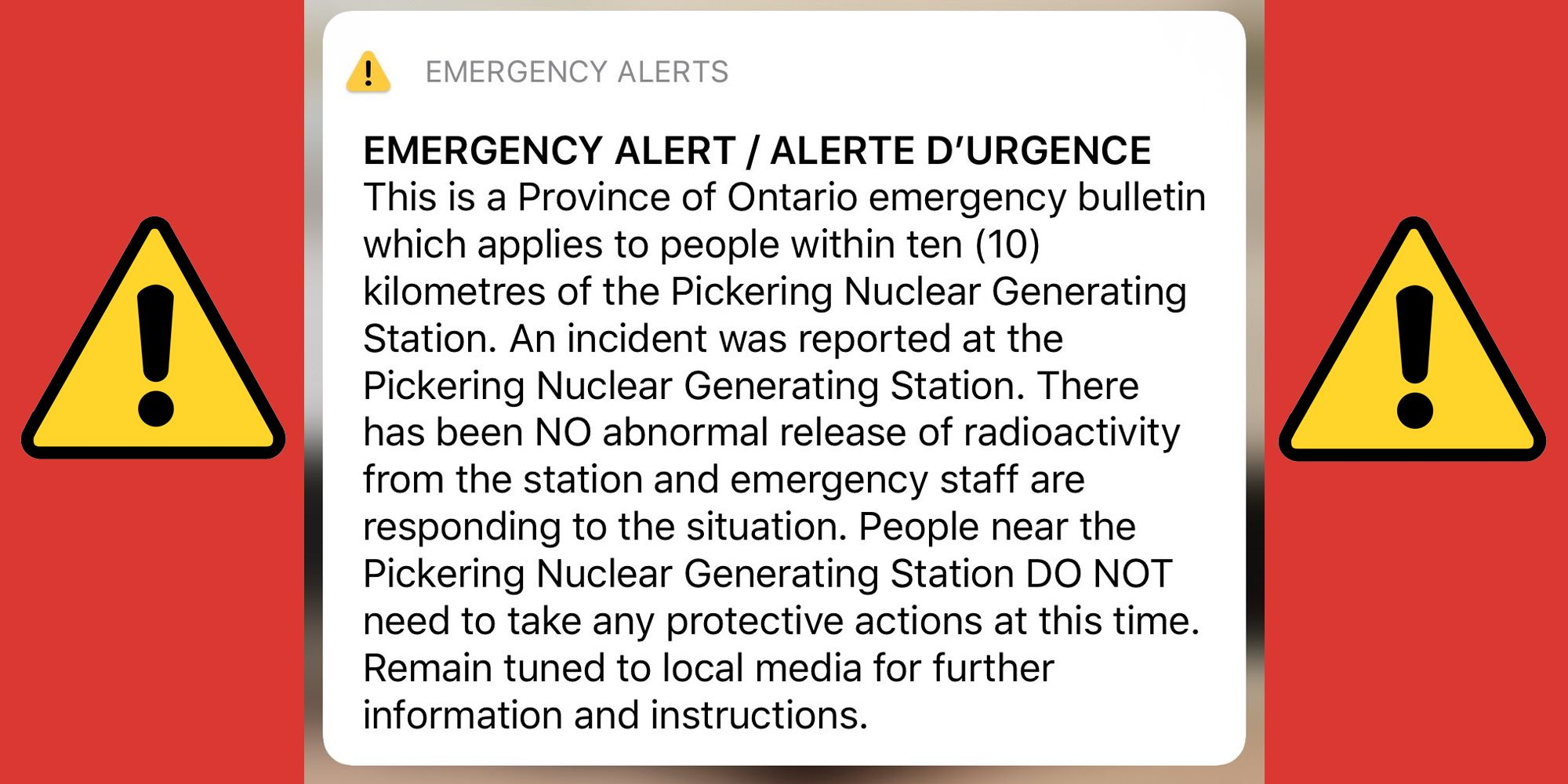Canada Sends Nuclear Emergency Text to Millions by Mistake, Whoops
