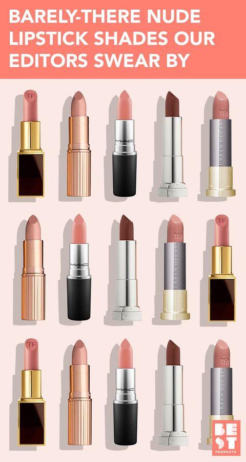 Neutral Natural Lipsticks Swatches