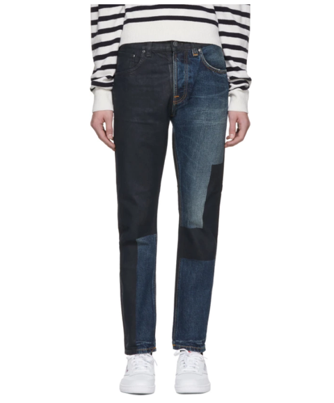 vaqueros hombre patchwork nudie jeans