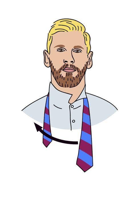 Cómo hacer paso a paso el nudo de corbata Half Windor con Messi
