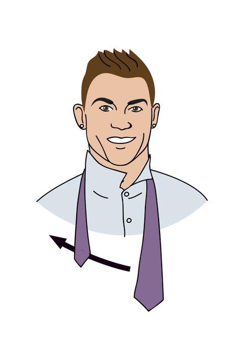 Cómo hacer el nudo simple de corbata por Cristiano Ronaldo
