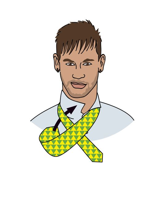 como hacer nudo corbata windsor neymar