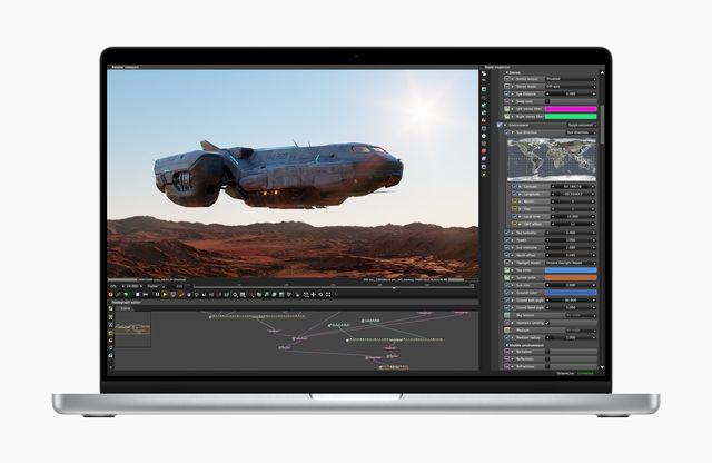 imagen de un nuevo macbook pro de 16 pulgadas