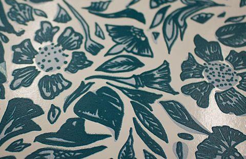 Pattern, Turquoise, Leaf, Teal, Aqua, Botany, Design, Textile, Motif, Visual arts,