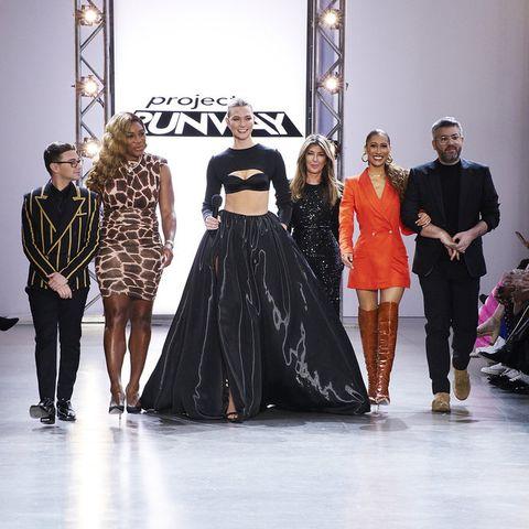 Fashion, Runway, Fashion model, Fashion show, Fashion design, Event, Haute couture, Dress, Fashion designer, Long hair,