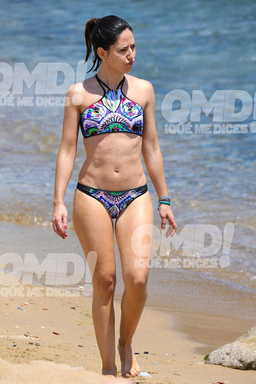 Nuria Marín en bikini en las playas de Barcelona