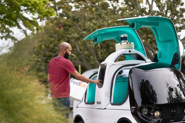nuro fedex robot delivery testing