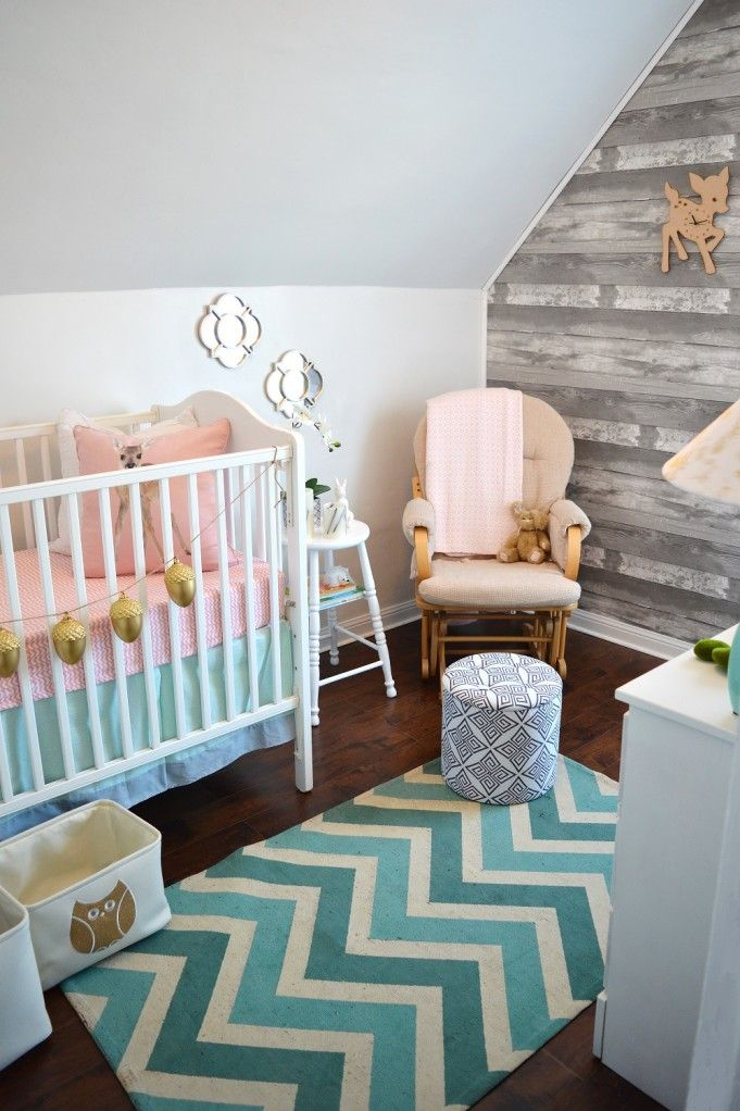 Vintage Meets Glam Woodland Nursery