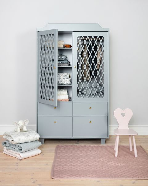 Grey nursery wardrobe