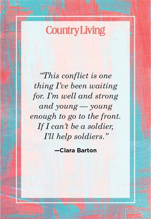 Nursing quote by Clara Barton