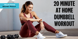 20 minute dumbbell workout with kelsey wells