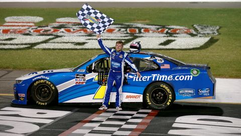 richmond, virginia september 11 justin allgaier, driver of the 7 filtertime chevrolet, celebrates after winning the nascar xfinity series go bowling 250 at richmond raceway on september 11, 2020 in richmond, virginia photo by sean gardnergetty images