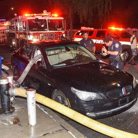 firefighter break car window