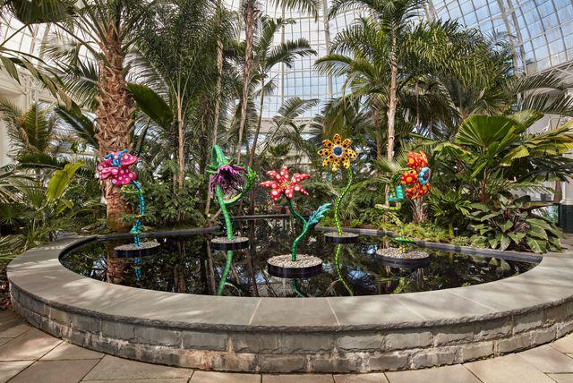 exposición naturaleza cósmica de yaypi kusama en el jardín botánico de nueva york