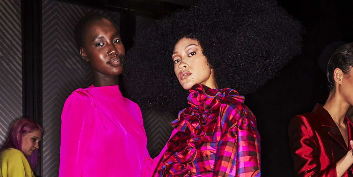 Exclusive Backstage Photos from Christopher John Rogers Fall/Winter 2020