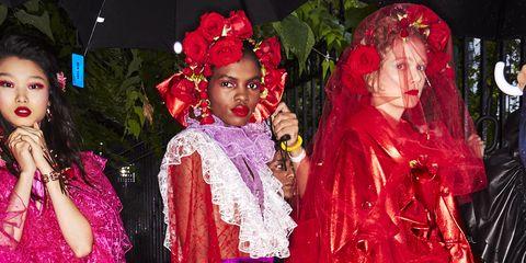 Pink, Fashion, Costume, Magenta, Event, Fun, Fashion design, Costume design, Tradition, Performance,