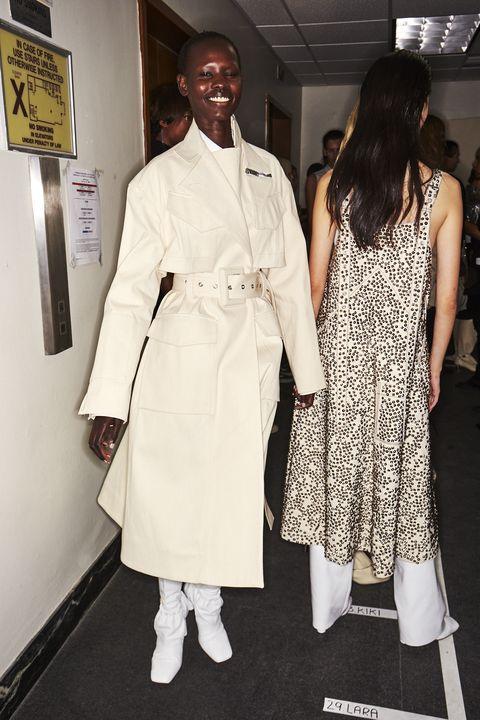 White, Clothing, Fashion, Fashion design, Dress, Event, Black-and-white, Style, Haute couture, Uniform,