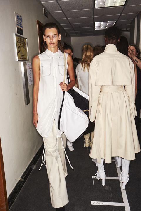 White, Clothing, Fashion, Fashion design, Fashion model, Shoulder, Dress, Haute couture, Event, Style,