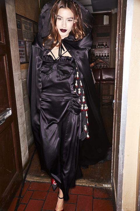 Clothing, Latex clothing, Fashion, Outerwear, Dress, Gothic fashion, Costume, Textile, Satin, Latex,