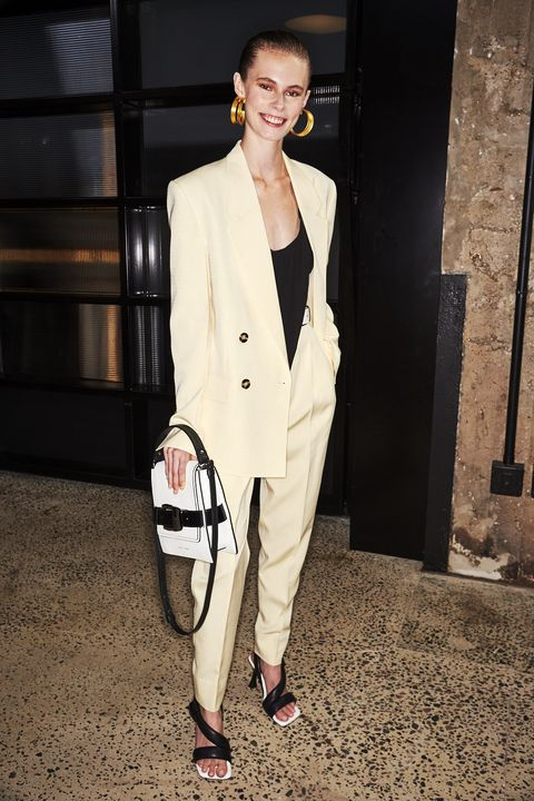 Clothing, White, Suit, Pantsuit, Fashion, Blazer, Street fashion, Formal wear, Outerwear, Trench coat,