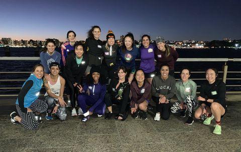 Members of Global Womxn Run Collective