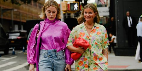 People, Pink, Street fashion, Fashion, Fun, Yellow, Pedestrian, Street, Walking, Infrastructure,