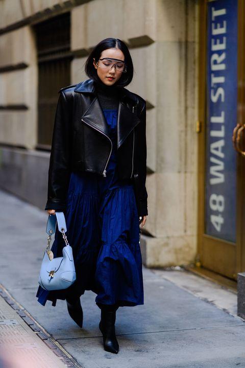 Cobalt blue, Blue, Street fashion, Fashion, Clothing, Electric blue, Snapshot, Footwear, Outerwear, Fashion design,