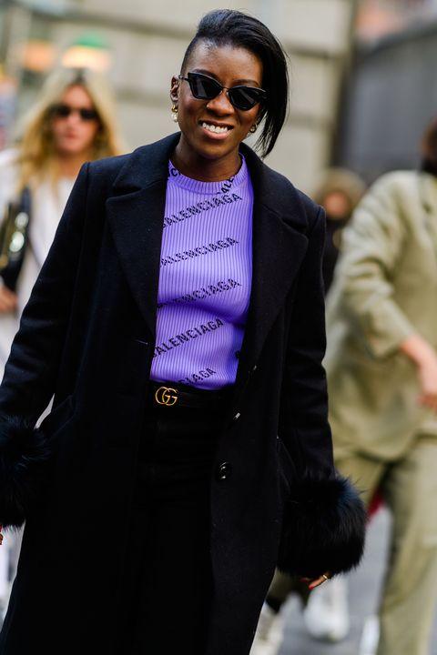 Street fashion, Suit, Fashion, Outerwear, Blazer, Eyewear, Formal wear, White-collar worker, Glasses, Event,