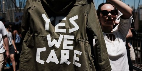 Fashion, T-shirt, Cool, Street fashion, Outerwear, Jacket, Font, Crowd, Top, Street,