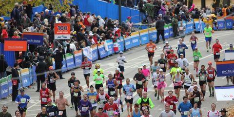 The last 100 yards of the 2013 New York City Marathon