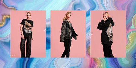 Clothing, Fashion model, Fashion, Pink, Jeans, Fashion design, Footwear, Outerwear, Pattern, Design,