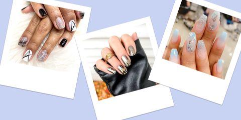 Nail, Nail care, Manicure, Finger, Hand, Nail polish, Cosmetics, Material property, Engagement ring, Service,
