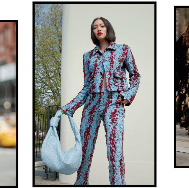 three women wear outfits to new york fashion week