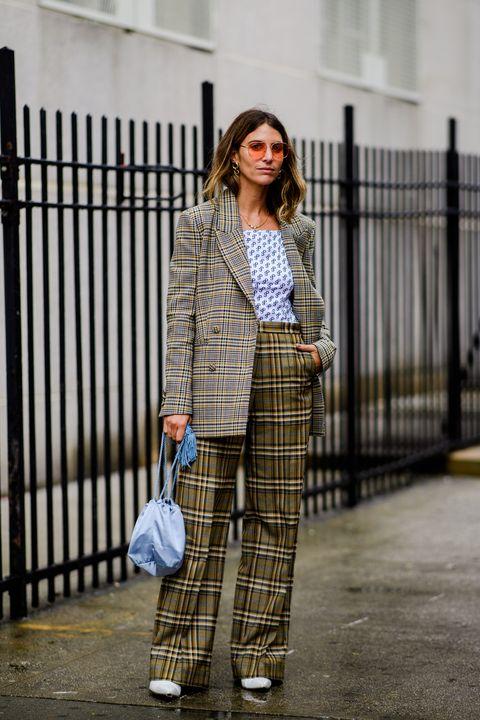 Plaid, Clothing, Street fashion, Tartan, Pattern, Fashion, Design, Outerwear, Suit, Textile,