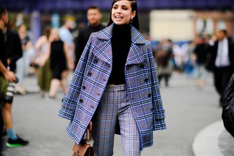 Fashion, Clothing, Street fashion, Plaid, Tartan, Fashion model, Pattern, Fashion show, Runway, Outerwear,