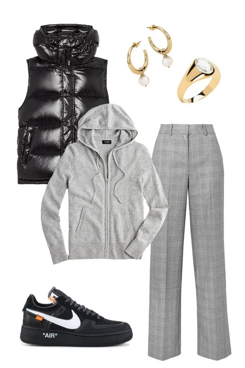White, Clothing, Black, Footwear, sweatpant, Shoe, Outerwear, Fashion, Sportswear, Plimsoll shoe,