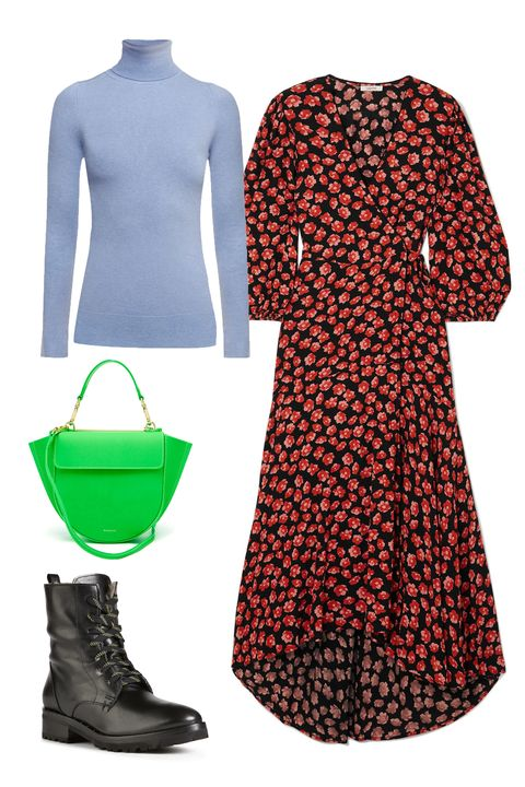 Clothing, Green, Day dress, Dress, Sleeve, Footwear, Fashion, Pattern, Outerwear, Pattern,