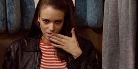 Face, Beauty, Nose, Hand, Lip, Finger, Eye, Human, Gesture, Long hair,