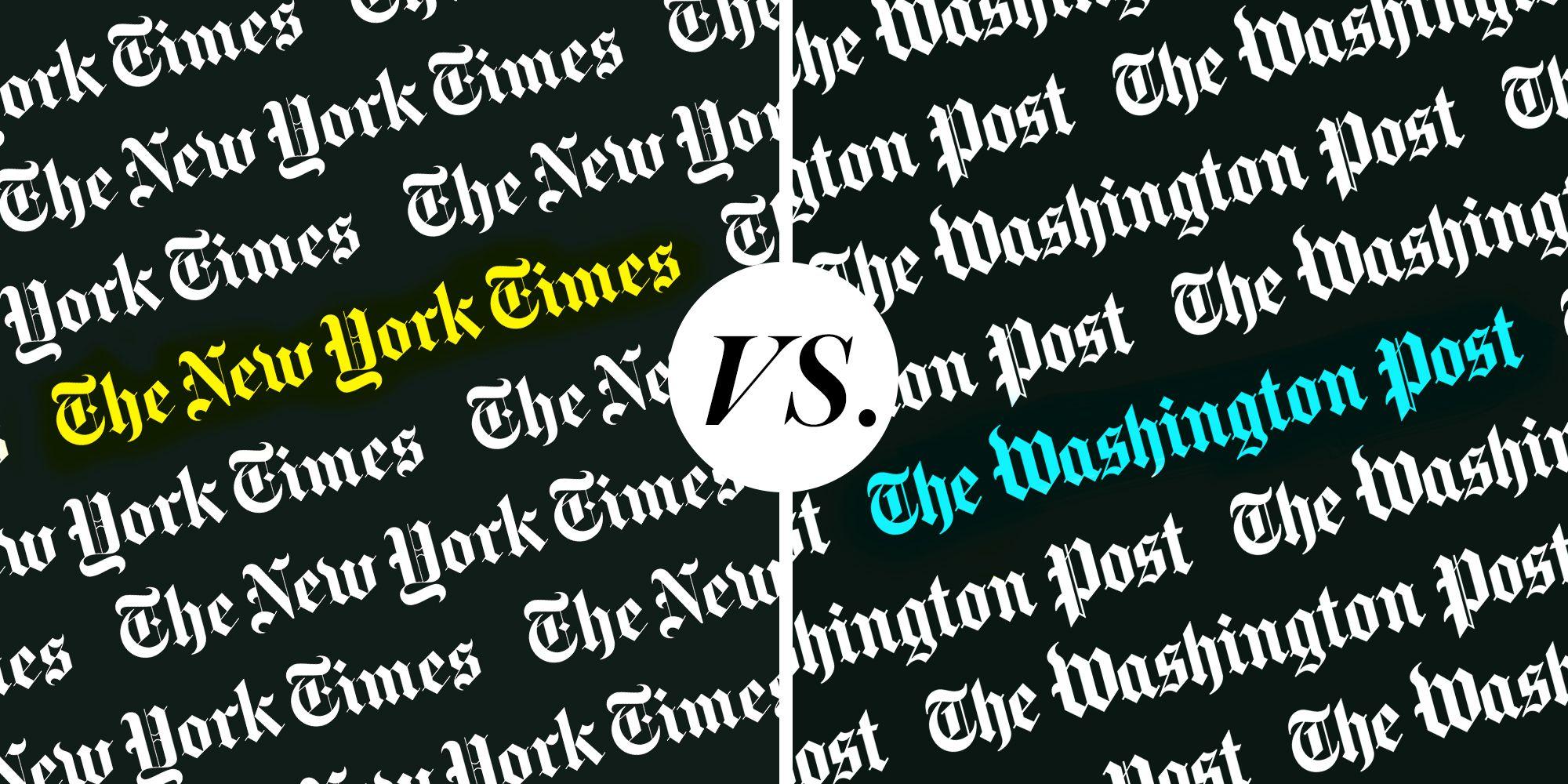 New York Times and Washington Post Logos